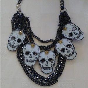 Reversible Statement Skull Necklace
